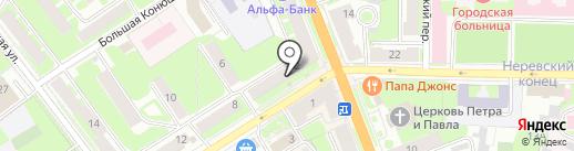Продукты Ермолино на карте Великого Новгорода