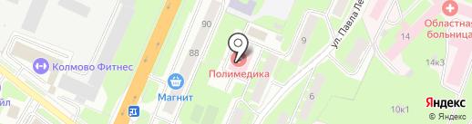 Пункт приема вторсырья на Большой Санкт-Петербургской на карте Великого Новгорода