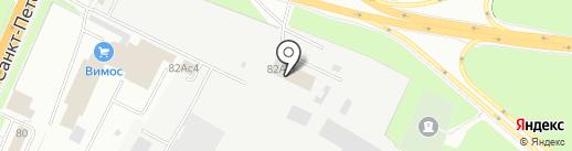 СТО на Большой Санкт-Петербургской на карте Великого Новгорода