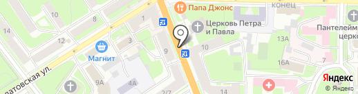 Киоск по ремонту обуви на карте Великого Новгорода
