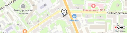 МТС на карте Великого Новгорода