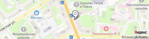 Медведица на карте Великого Новгорода