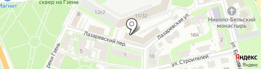 Мой компьютер на карте Великого Новгорода