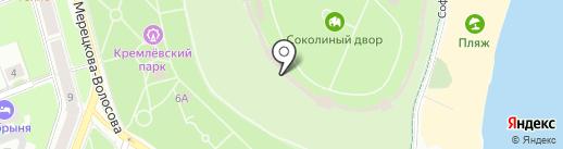 Галерея времени на карте Великого Новгорода