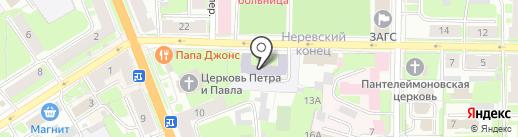 Центр психолого-педагогической реабилитации и коррекции на карте Великого Новгорода