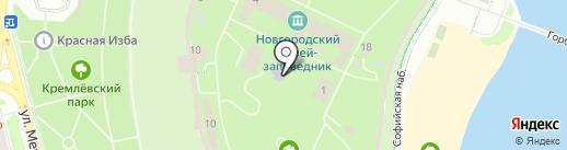 Новгородская детская художественная школа на карте Великого Новгорода