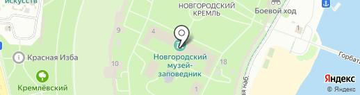 Здание Присутственных мест на карте Великого Новгорода