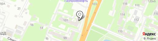 Зеленый на карте Великого Новгорода