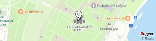 Ивушки на карте Великого Новгорода