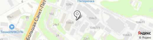 Росско на карте Великого Новгорода