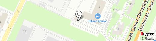 Мандарин на карте Великого Новгорода