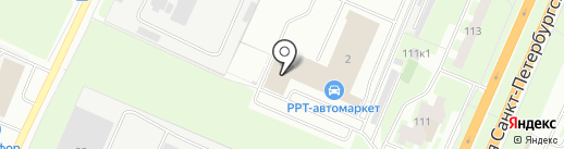 Авто-МК на карте Великого Новгорода