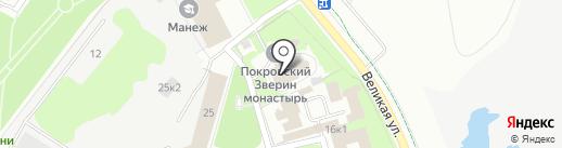 Покровский собор на карте Великого Новгорода