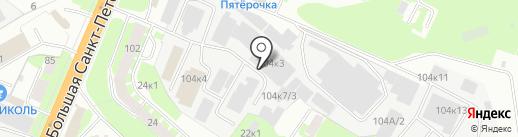 Оптовая база на карте Великого Новгорода