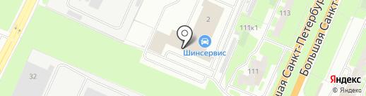 Северная на карте Великого Новгорода