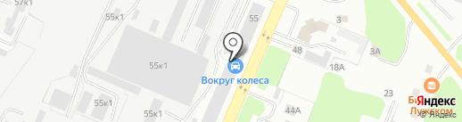 Грузовой элемент на карте Великого Новгорода
