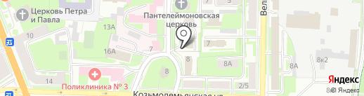 Спортивная Федерация черлидинга Новгородской области на карте Великого Новгорода