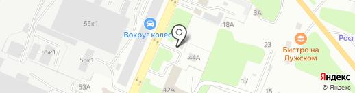 Магазин автозапчастей для европейских и американских грузовиков на карте Великого Новгорода