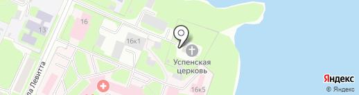 Церковь Успения Пресвятой Богородицы в Колмово на карте Великого Новгорода
