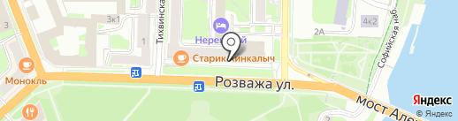 Сад бабочек на карте Великого Новгорода