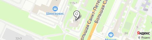 Большая Санкт-Петербургская 111 на карте Великого Новгорода