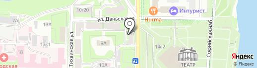 Новпроект на карте Великого Новгорода