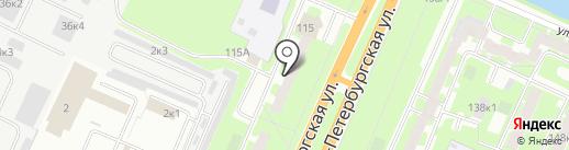 Авто-М на карте Великого Новгорода