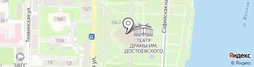 Декоратор на карте Великого Новгорода