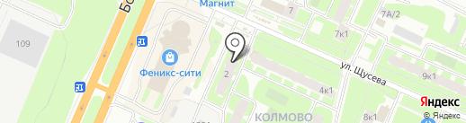 Де Ля Ви на карте Великого Новгорода