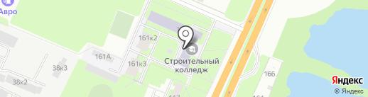 Новгородский строительный колледж на карте Великого Новгорода