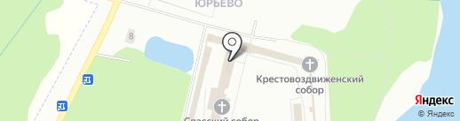 Новгородская Епархия Русской Православной Церкви на карте Великого Новгорода