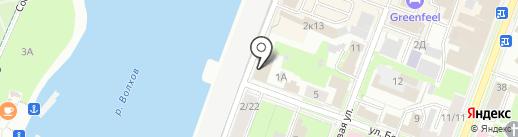 Небо на карте Великого Новгорода