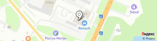 RENAULT на карте Великого Новгорода