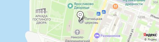 Церковь Параскевы Пятницы на Торгу на карте Великого Новгорода
