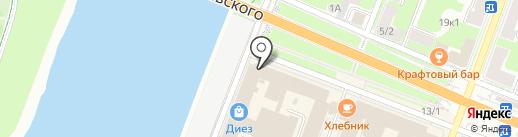 Усадьба Плюс на карте Великого Новгорода