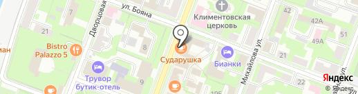 Модильяни на карте Великого Новгорода