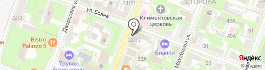 ВСК, С на карте Великого Новгорода