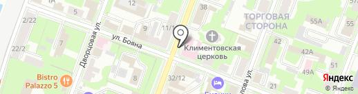 Стоматологическая поликлиника №1, ЗАО на карте Великого Новгорода