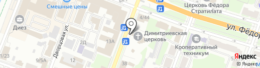 Храм Дмитрия Солунского на карте Великого Новгорода