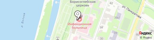 Новгородская областная инфекционная больница на карте Великого Новгорода