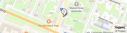Аврора53 на карте Великого Новгорода