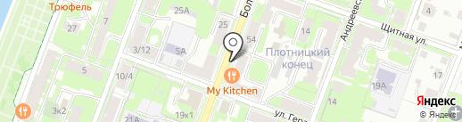 Дружба на карте Великого Новгорода
