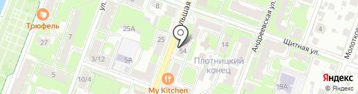 Садко-ВН на карте Великого Новгорода