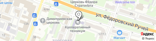 Колледж на карте Великого Новгорода