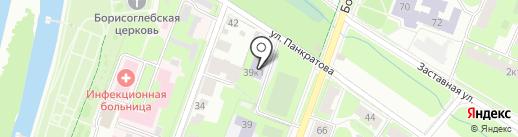 Российский государственный гуманитарный университет на карте Великого Новгорода