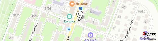Точка Молочка на карте Великого Новгорода