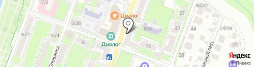 Красивая студия на карте Великого Новгорода