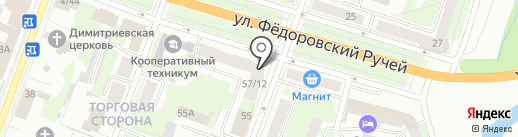 ЛИВ и К на карте Великого Новгорода
