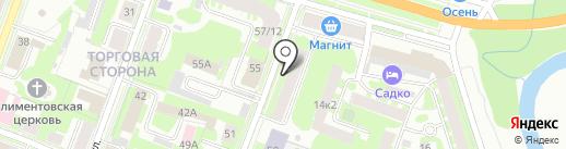 Ткани Эконом на карте Великого Новгорода