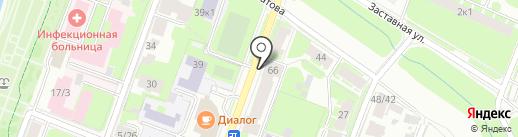 Двери Нева на карте Великого Новгорода
